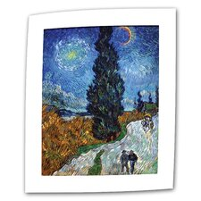 """Country Road in Provence by Night"" by Vincent van Gogh Painting Print on Canvas"