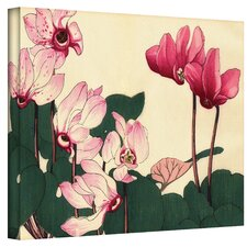 Japanese Woodlock ''Pink Petunias'' Canvas Art
