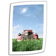 Cynthia Decker 'Red Truck' Unwrapped Canvas Wall Art