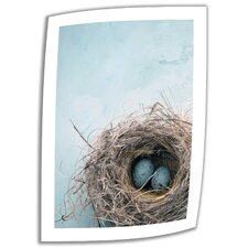 Elena Ray 'Blue Nest' Unwrapped Canvas Wall Art