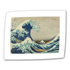 """""""The Great Wave"""" by Katsushika Hokusai Painting Print on Canvas"""