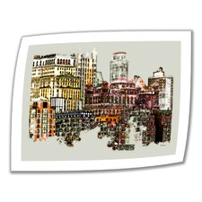 Linda Parker 'NYC Manhattan Cluster' Unwrapped Canvas Wall Art