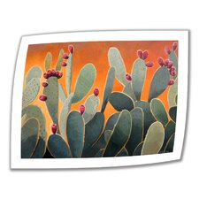 'Cactus Orange' by Rick Kersten Painting Print on Canvas