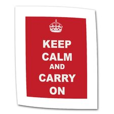 "Government of the United Kingdom ""Keep Calm and Carry On"" Canvas Wall Art"