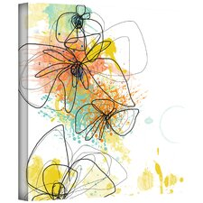 Jan Weiss 'Orange Botanica' Gallery-Wrapped Canvas Wall Art