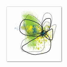 'Citron Petals ' by Jan Weiss Graphic Art Canvas