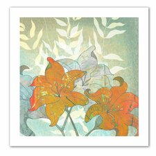 'Day Lilies' by Jan Weiss Graphic Art Canvas
