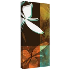 'Espresso Floral II' by Jan Weiss Graphic Art Canvas