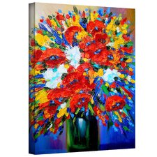 'Happy Foral' by Susi Franco Painting Print on Canvas