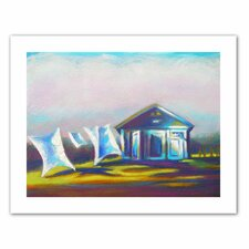 'March Laundry' by Susi Franco Painting Print on Canvas