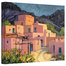 Rick Kersten 'Taos Pueblo' Gallery-Wrapped Canvas Wall Art