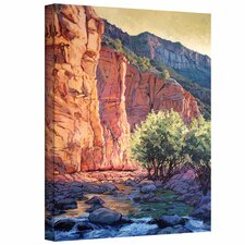 'The West Fork' by Rick Kersten Painting Print on Canvas