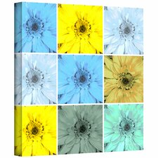 Herb Dickinson 'Flower Collage' Unwrapped Canvas Wall Art