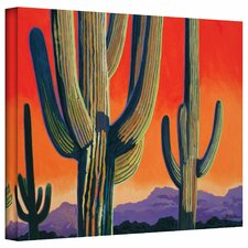 Rick Kersten 'Cactus Orange' Gallery-Wrapped Canvas Wall Art