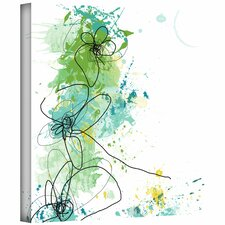 'Green Botanica' by Jan Weiss Graphic Art Canvas