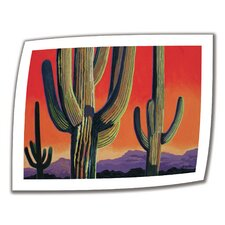 <strong>Art Wall</strong> Rick Kersten 'Cactus Orange' Unwrapped Canvas Wall Art