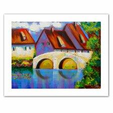 'German Village on Rhine' by Susi Franco Painting Print on Canvas