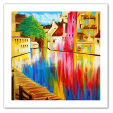 Susi Franco 'River Through Treviso' Unwrapped Canvas Wall Art