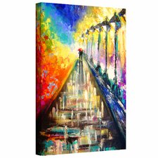 Susi Franco 'Rainy Paris Evening' Gallery-Wrapped Canvas Wall Art