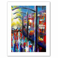 Susi Franco '8 O'Clock Street Lights' Unwrapped Canvas Wall Art