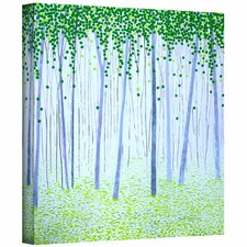 'Misty Woodlands' by Herb Dickinson Painting Print on Canvas