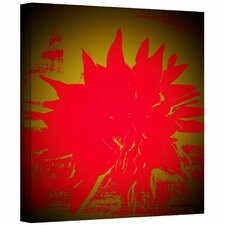 Herb Dickinson 'Scarlet Splash' Unwrapped Canvas Wall Art