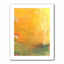 'Three Trees' by Jan Weiss Painting Print on Canvas