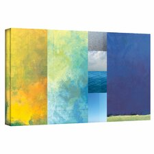 Jan Weiss 'Textured Earth Panel I' Gallery-Wrapped Canvas Wall Art