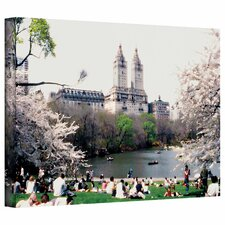 'The Dakota and Central Park' by Linda Parker Photographic Print on Canvas