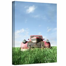 'Red Truck' by Cynthia Decker Graphic Art Canvas
