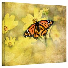 <strong>Art Wall</strong> David Liam Kyle 'Butterfly in Yellow' Gallery-Wrapped Canvas Wall Art