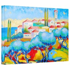 'Greece by the Sea' by Susi Franco Graphic Art Canvas