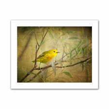 David Liam Kyle 'Bird on Branch' Unwrapped Canvas Wall Art