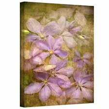 David Liam Kyle 'Purple Flowers' Gallery-Wrapped Canvas Wall Art