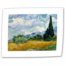 """Wheatfield with Cypresses"" by Vincent van Gogh Painting Print on Canvas"