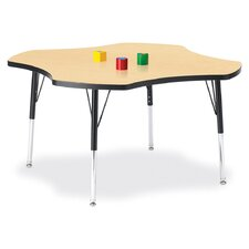 "<strong>Jonti-Craft</strong> KYDZ Toddler Height Activity Table- Four-Leaf (48"" Diameter)"