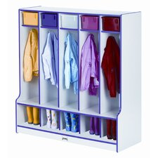 <strong>Jonti-Craft</strong> 5 Section Coat Locker with Step