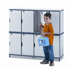 Four Sections Stacking Lockable Lockers