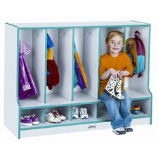 5 Section Toddler Coat Locker with Step