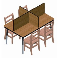 4 Rectangular Laminate Carrels