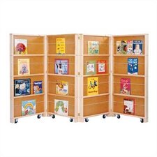 "Mobile Library 48"" Bookcase with 4 Sections"