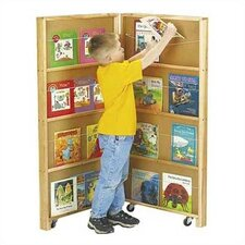 "48"" Mobile Library Bookcase with 2 Sections"