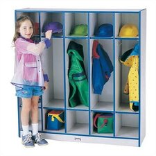 Rainbow Accents Coat Locker - 5 Sections