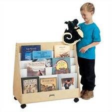 "30"" H Mobile Pick-a-Book Stand - 2 Sided"