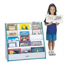 "<strong>Jonti-Craft</strong> 32"" H Rainbow Accents Pick-a-Book Stand Flush Back - 1 Sided"