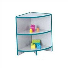 "<strong>Jonti-Craft</strong> KYDZ Curves 24"" H Rainbow Accents Corner Bookcase"