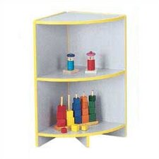 "<strong>Jonti-Craft</strong> KYDZ Curves 29"" H Rainbow Accents Corner Bookcase"