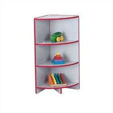 "<strong>Jonti-Craft</strong> KYDZ Curves 35"" H Rainbow Accents Corner Bookcase"