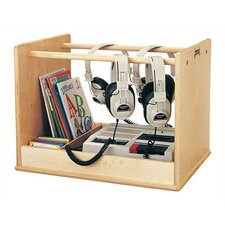 <strong>Jonti-Craft</strong> Audio Caddie Multimedia Tabletop Storage Rack