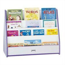 "<strong>Jonti-Craft</strong> 30"" H Rainbow Accents Mobile Pick-a-Book Stand - 2 Sided"
